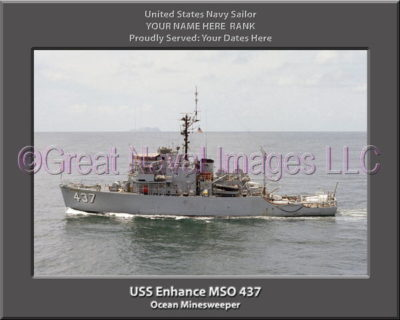 USS Enhance MSO 437 Personalized Photo on Canvas