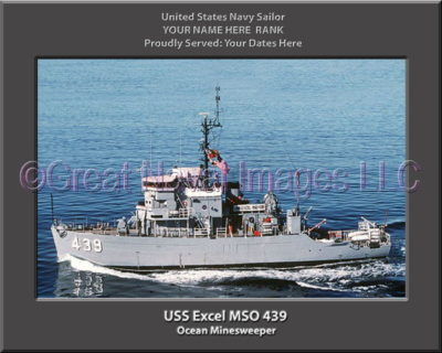 USS Excel MSO 439 Personalized Photo on Canvas