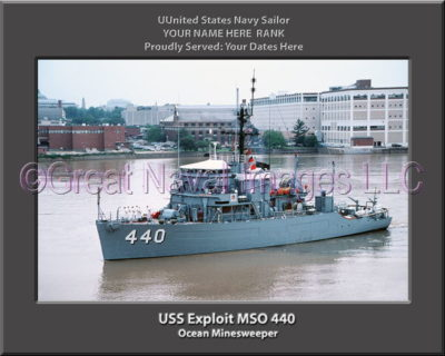 USS Exploit MSO 440 Personalized Photo on Canvas