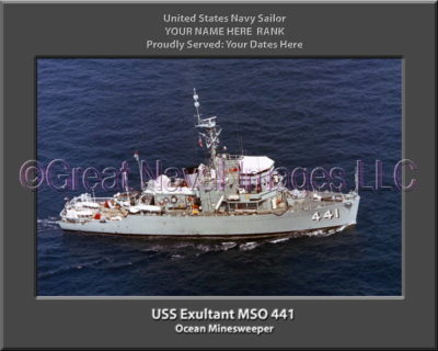 USS Exultant MSO 441 Personalized Photo on Canvas