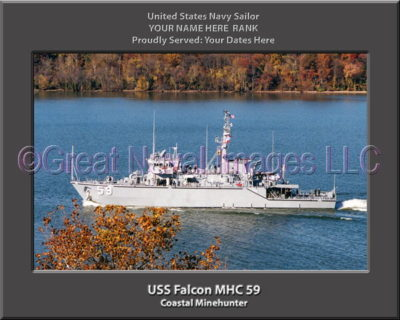 USS Falcon MHC 59 Personalized Photo on Canvas