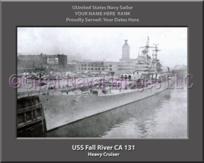 USS Fall River CA 131 Personalized Navy Ship Photo Printed on Canvas