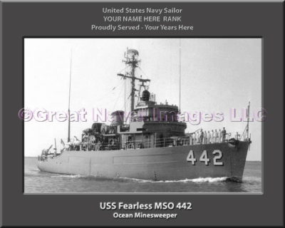 USS Fearless MSO 442 Personalized Photo on Canvas