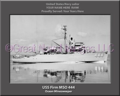 USS Firm MSO 444 Personalized Photo on Canvas