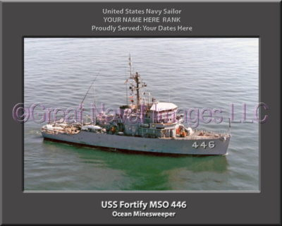 USS Fortify MSO 446 Personalized Photo on Canvas