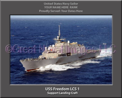 USS Freedom LCS 1 Personalized Photo on Canvas