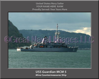 USS Guardian MCM 5 Personalized Photo on Canvas
