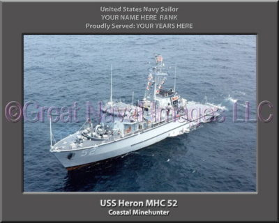 USS Heron MHC 52 Personalized Photo on Canvas