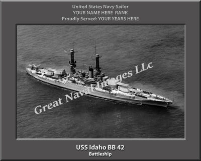 USS Idaho BB 41 Personalized Photo on Canvas