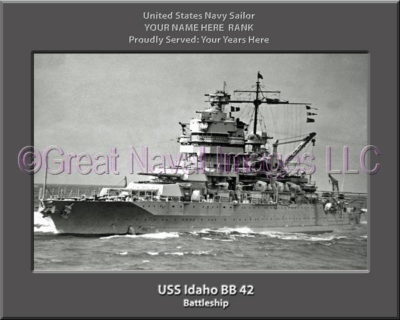 USS Idaho BB 42 Personalized Photo on Canvas