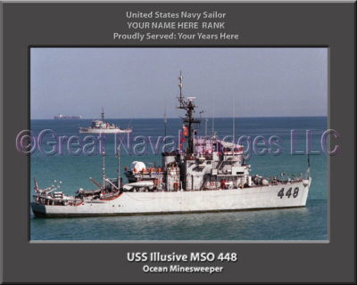 USS Illusive MSO 448 Personalized Photo on Canvas