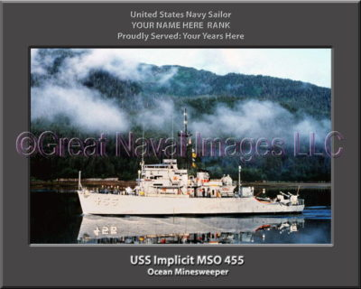 USS Implicit MSO 455 Personalized Photo on Canvas