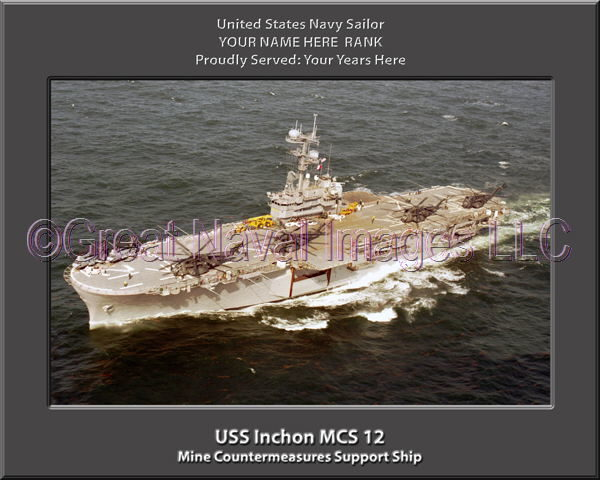 USS Inchon MCS 12 Personalized Photo on Canvas