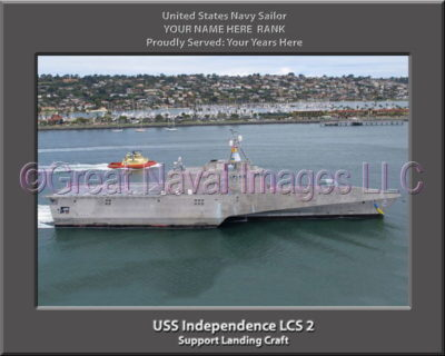 USS Independence LCS 2 Personalized Photo on Canvas