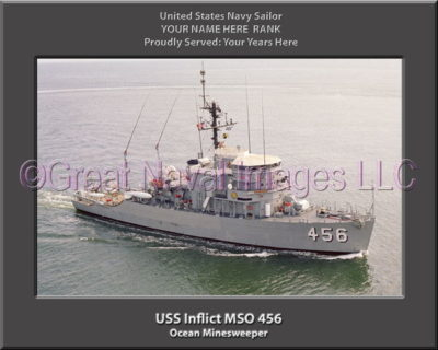 USS Inflict MSO 456 Personalized Photo on Canvas