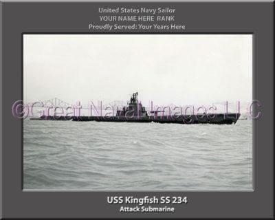 USS Kingfish SS 234 Personalized Photo on Canvas