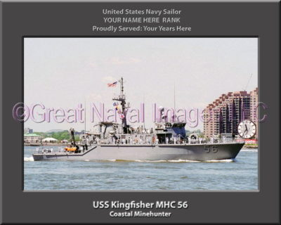 USS Kingfisher MHC 56 Personalized Photo on Canvas