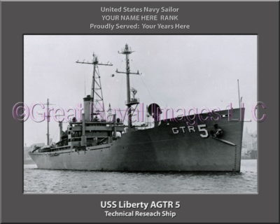 USS Liberty AGTR 5 Personalized Photo on Canvas