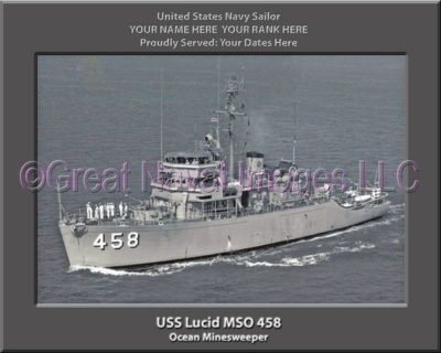 USS Lucid MSO 458 Personalized Photo on Canvas
