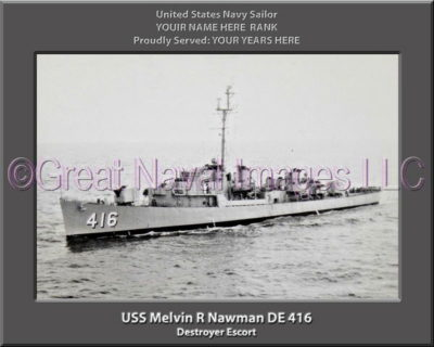 USS Melvin R Nawman DE 416 Personalized Navy Ship Photo