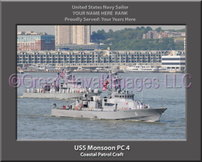 USS Monsoon PC 4 Personalized Photo on Canvas