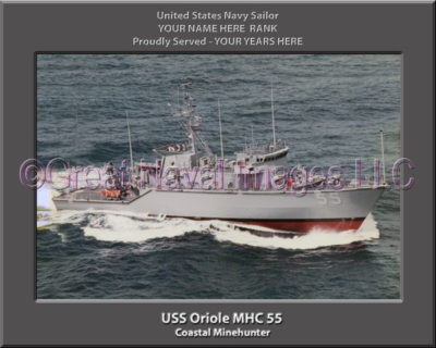 USS Oriole MHC 55 Personalized Photo on Canvas