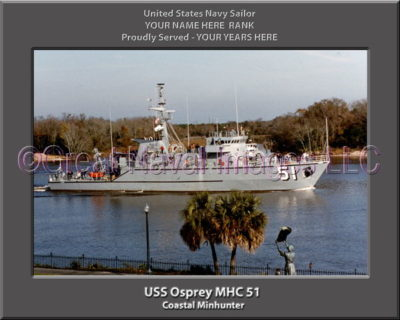 USS Osprey MHC 51 Personalized Photo on Canvas