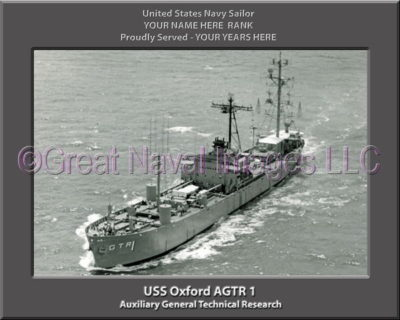 USS Oxford AGTR 1 Personalized Photo on Canvas