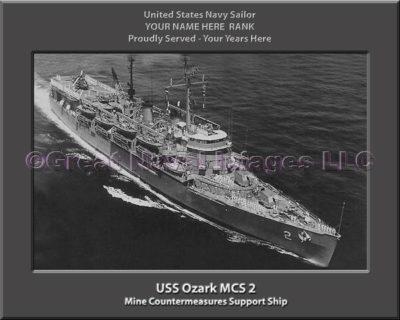 USS Ozark MCS 2 Personalized Photo on Canvas