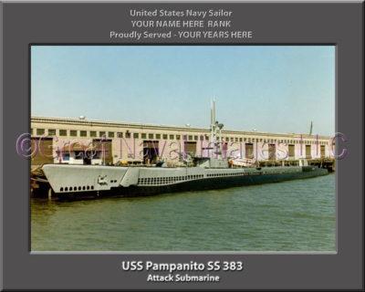 USS Pampanito SS 383 Personalized Photo on Canvas