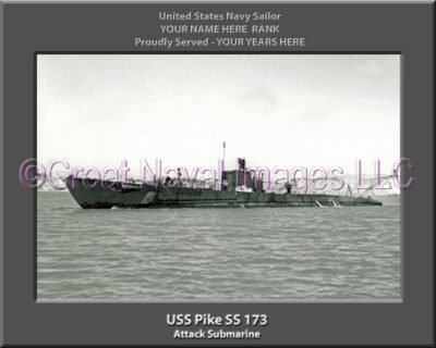 USS Pike SS 173 Personalized Photo on Canvas