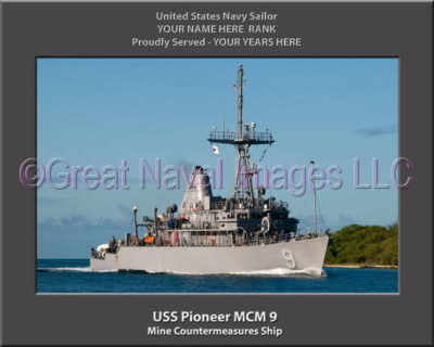USS Pioneer MCM 9 Personalized Photo on Canvas