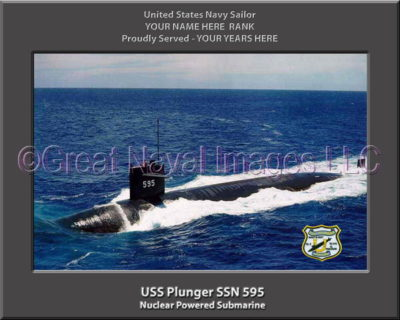 USS Plunger SSN 595 Personalized Photo on Canvas