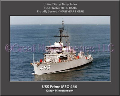 USS Prime MSO 466 Personalized Photo on Canvas