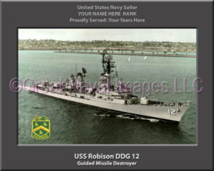 USS Robison DDG 12 Personalized Navy Ship Photo