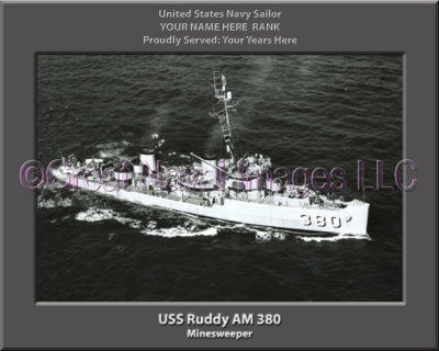 USS Ruddy AM 380 Personalized Photo on Canvas