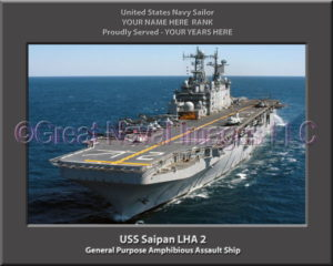 USS Saipan LHA 2 Personalized Navy Ship Photo
