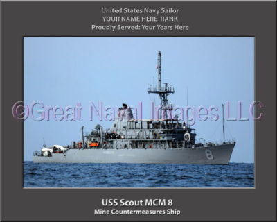 USS Scout MCM 8 Personalized Photo on Canvas