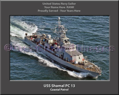USS Shamal PC 13 Personalized Photo on Canvas