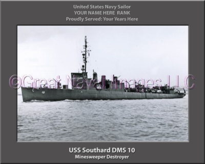 USS Southard DMS 10 Personalized Photo on Canvas