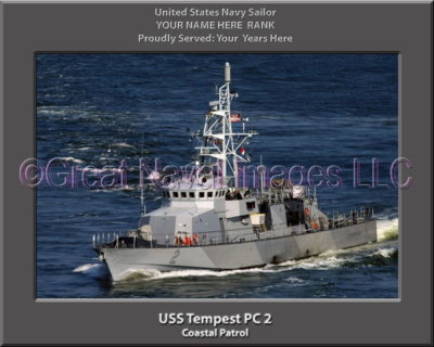 USS Tempest PC 2 Personalized Photo on Canvas