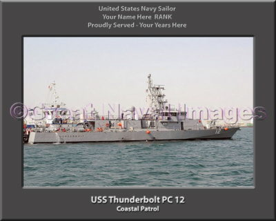 USS Thunderbolt PC 12 Personalized Photo on Canvas