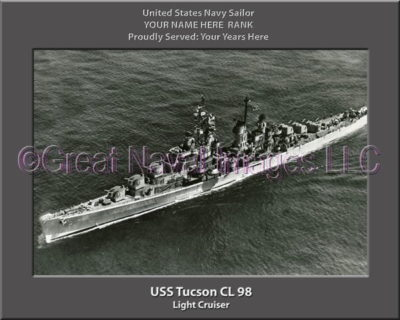 USS Tucson CL 98 Personalized Navy Ship Photo Printed on Canvas