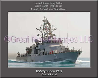 USS Typhoon PC 5 Personalized Photo on Canvas