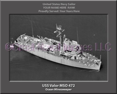 USS Valor MSO 472 Personalized Photo on Canvas