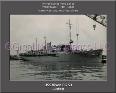 USS Vixen PG 53 Personalized Photo on Canvas