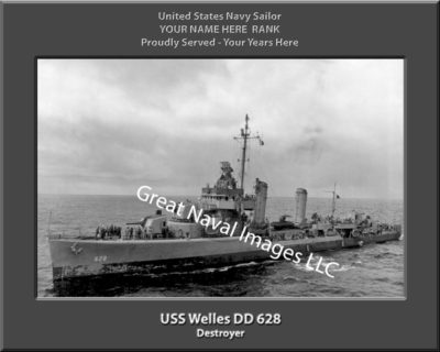 USS Wells DD 628 Personalized Navy Ship Photo