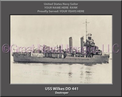 USS Wilkes DD 441 Personalized Navy Ship Photo