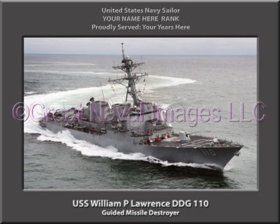 USS William P Lawrence DDG 110 Personalized Navy Ship Photo