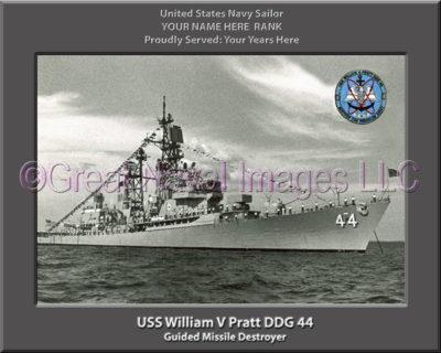 USS William V Pratt DDG 44 Personalized Navy Ship Photo
